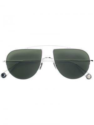 Солнцезащитные очки-авиаторы Ahlem. Цвет: серебристый