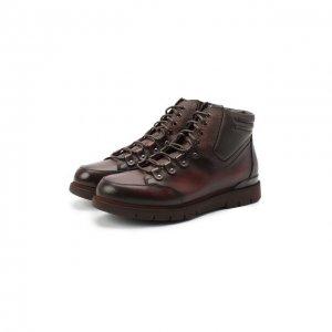 Кожаные ботинки W.Gibbs. Цвет: коричневый