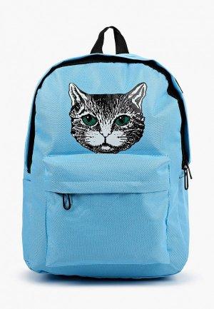 Рюкзак Pinkkarrot с проводом USB и штекером для наушников. Цвет: голубой