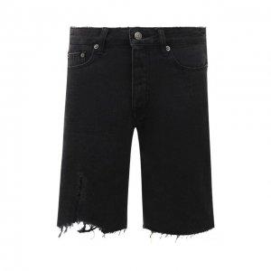 Джинсовые шорты Ksubi. Цвет: чёрный