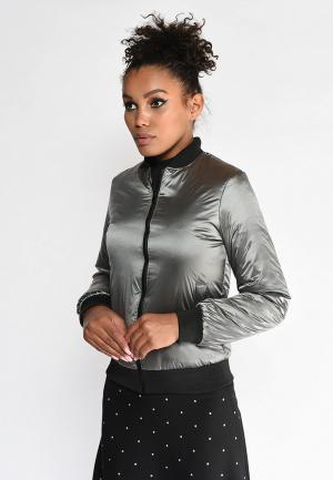 Куртка утепленная Lobanova. Цвет: серый