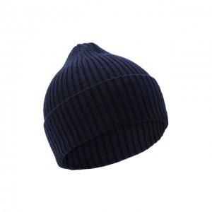 Кашемировая шапка Cortigiani. Цвет: синий