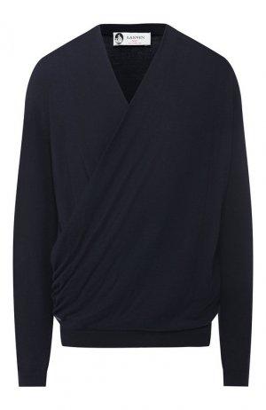 Пуловер из смеси шерсти и шелка Lanvin. Цвет: темно-синий