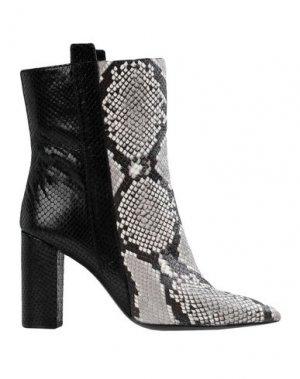 Полусапоги и высокие ботинки BRUNO PREMI. Цвет: серый