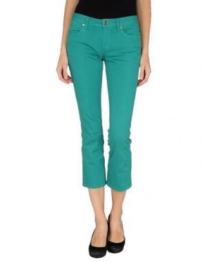 Джинсовые брюки-капри TORY BURCH. Цвет: изумрудно-зеленый