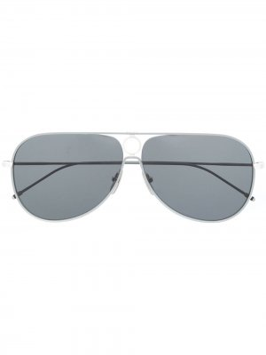 Солнцезащитные очки-авиаторы TBS115 Thom Browne Eyewear. Цвет: серый