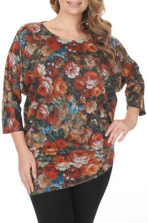 Блуза MONTEBELLUNA. Цвет: мультиколор