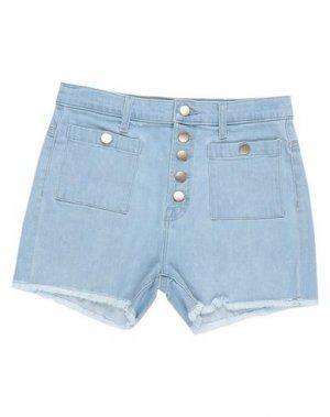 Джинсовые шорты J BRAND. Цвет: синий