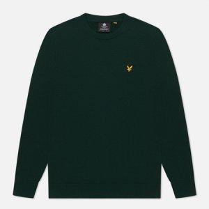 Мужской свитер Cotton Merino Crew Jumper Lyle & Scott. Цвет: зелёный