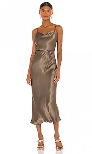 Платье sophia Shona Joy. Цвет: металлический нейтральный