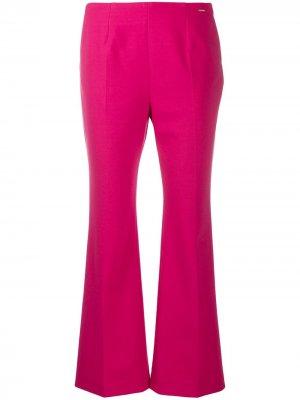 Укороченные брюки Les Copains. Цвет: розовый