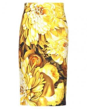 Юбка длиной 3/4 ANDREA TURCHI. Цвет: желтый