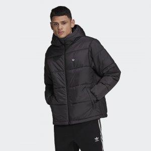Утепленная куртка с капюшоном Originals adidas. Цвет: черный