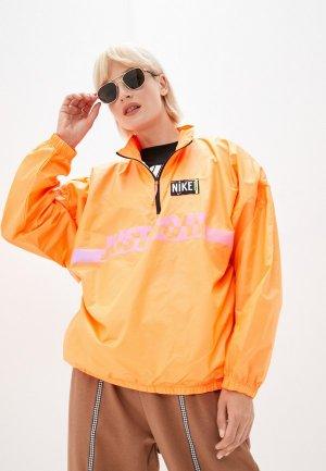 Ветровка Nike W NSW WVN PO JKT WASH. Цвет: оранжевый