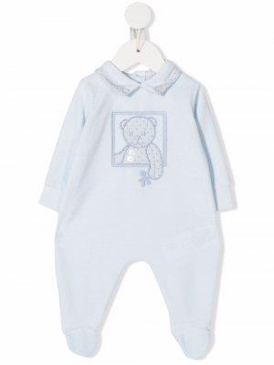 Пижама с вышитым логотипом Le Bebé Enfant. Цвет: синий