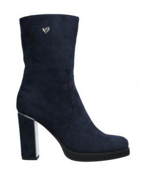 Полусапоги и высокие ботинки TUA BY BRACCIALINI. Цвет: темно-синий