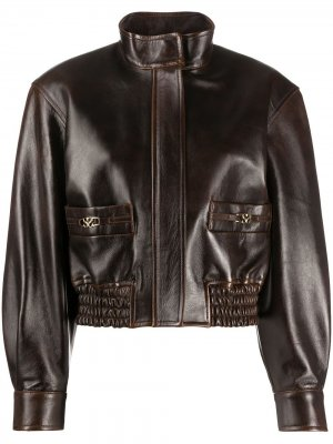Куртка бомбер с воротником-стойкой Sandro Paris. Цвет: коричневый