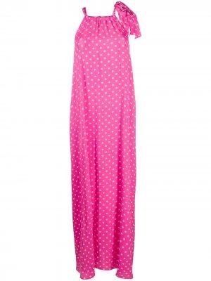 Платье в горох Essentiel Antwerp. Цвет: розовый