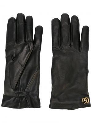 Перчатки GG Gucci. Цвет: чёрный