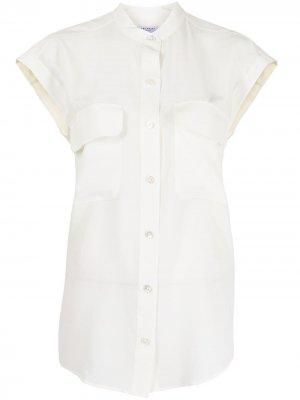 Рубашка с рукавами кап Equipment. Цвет: белый
