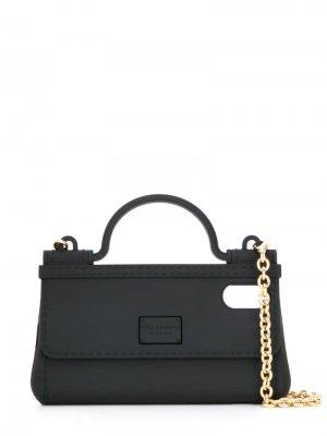 Чехол для iPhone X в форме сумки Dolce & Gabbana. Цвет: черный