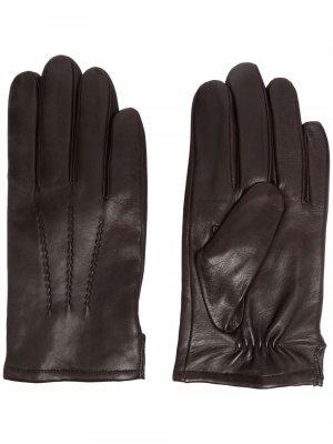 Перчатки с декоративной строчкой Karl Lagerfeld. Цвет: коричневый