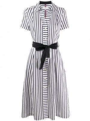Платье-рубашка в полоску Tommy Hilfiger. Цвет: белый