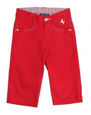 Повседневные брюки FERRARI. Цвет: красный