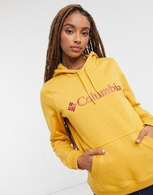 Худи горчичного цвета с логотипом CSC-Желтый Columbia