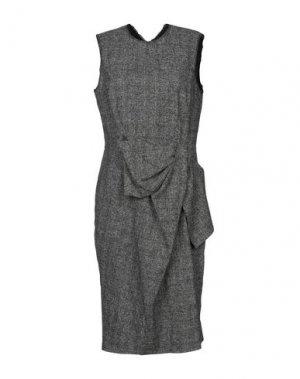 Платье до колена AQUILANO-RIMONDI. Цвет: голубиный серый