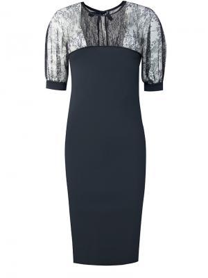 Коктейльное платье VALENTINO. Цвет: черный