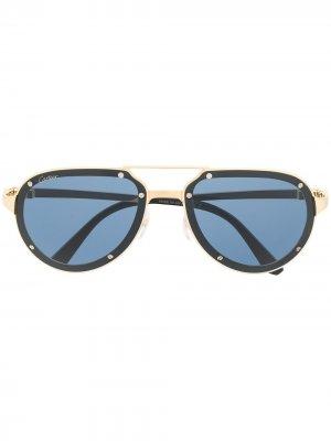 Солнцезащитные очки-авиаторы Cartier Eyewear. Цвет: золотистый