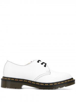 Туфли дерби из коллаборации с Dr. Martens Comme Des Garçons. Цвет: белый