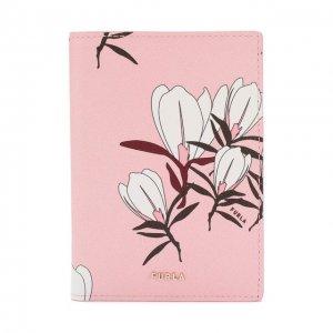 Кожаная обложка для паспорта Linda Furla. Цвет: розовый