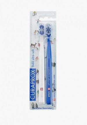 Комплект зубных щеток Curaprox ultrasoft Winter2, d 0,10 мм (2 шт.). Цвет: разноцветный