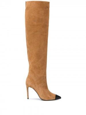 Сапоги с заостренным носком Grey Mer. Цвет: нейтральные цвета