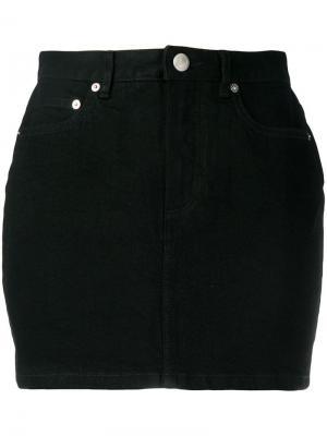 Джинсовая юбка мини A.P.C.. Цвет: черный