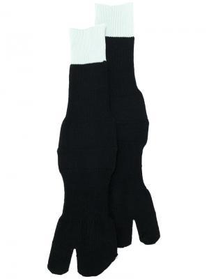 Носки с контрастным дизайном Maison Margiela. Цвет: чёрный