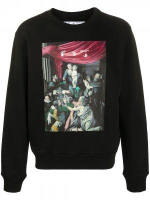 Caravaggio Painting printed sweatshirt Off-White. Цвет: черный