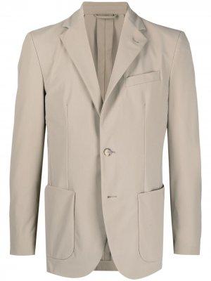 Однобортный пиджак с заостренными лацканами Traiano Milano. Цвет: нейтральные цвета