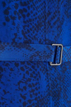 Шелковое платье Equipment Femme. Цвет: синий