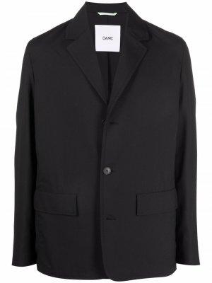 Short single-breasted coat OAMC. Цвет: черный
