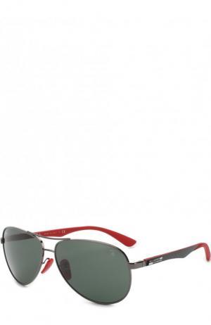Солнцезащитные очки Ray-Ban. Цвет: темно-серый