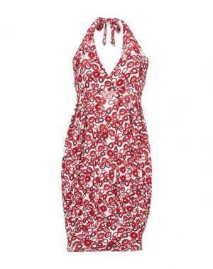 Платье до колена FRANCESCA FERRANTE. Цвет: красный
