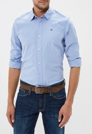 Рубашка Tommy Jeans. Цвет: голубой