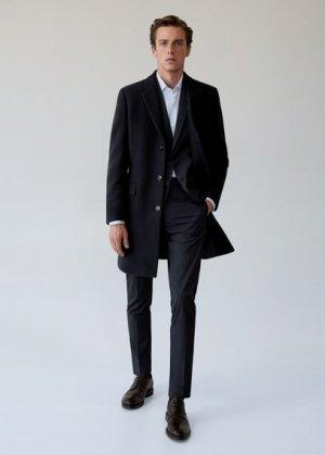 Полушерстяное пальто Tailored - Arizona Mango. Цвет: темно-синий