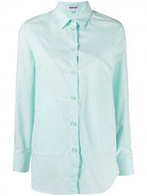 Рубашка-туника с рукавами реглан Kenzo. Цвет: синий