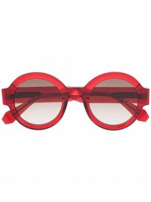 Солнцезащитные очки Laura в круглой оправе GIGI STUDIOS. Цвет: красный