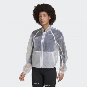 Куртка-бомбер Transparent VRCT Athletics adidas. Цвет: белый