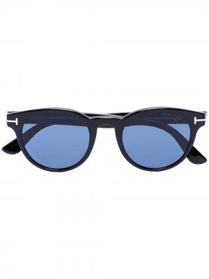 Солнцезащитные очки Palmer в круглой оправе Tom Ford Eyewear. Цвет: черный